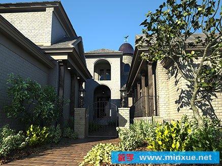 7,完整室外max模型.商业高质量外场景建筑3d模型极品素材.