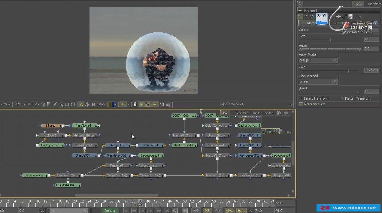 《CGS合成教程_视频原创高端_EyeonFusion软件h动画片图片