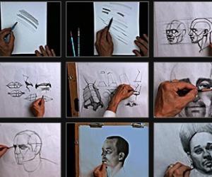 《Gnomon出品男性肖像构建和抽象绘画视频教程》(The Gnomon Workshop Drawing the Male Portrait Construc