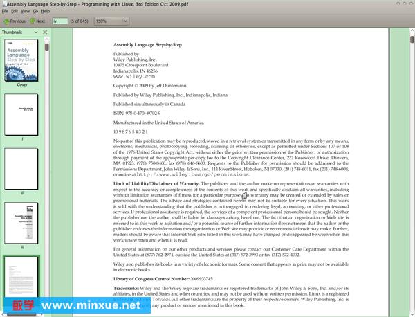 《一步一步学习linux汇编语言程序设计》(assembly language step-by