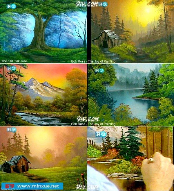 ross作品-油画风景欣赏(本教程内容还有相当多幅与下面技法相近,甚有
