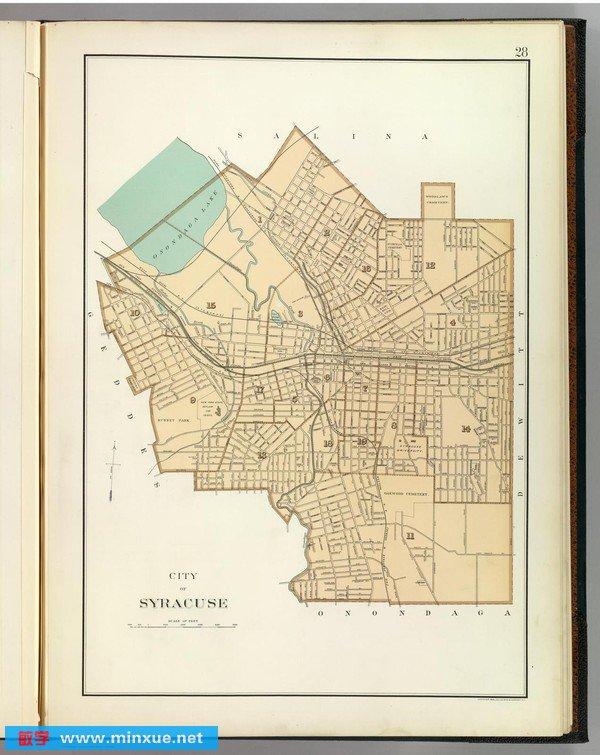 美国纽约州中英文地图