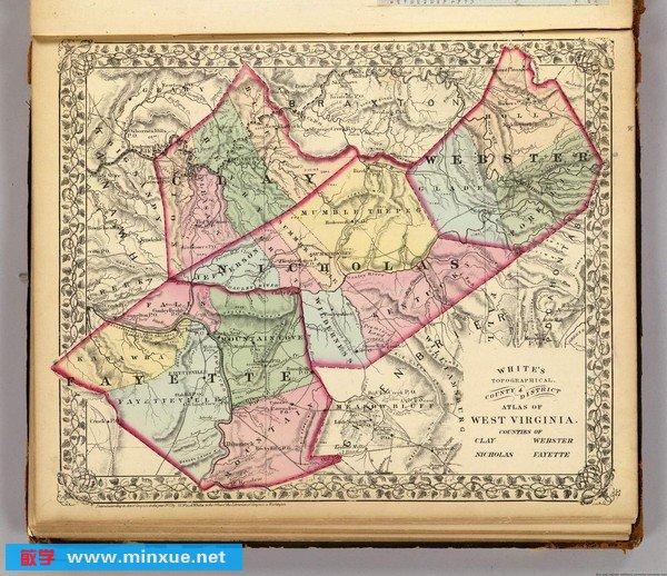《1873年美国《西弗吉尼亚洲地图集》》