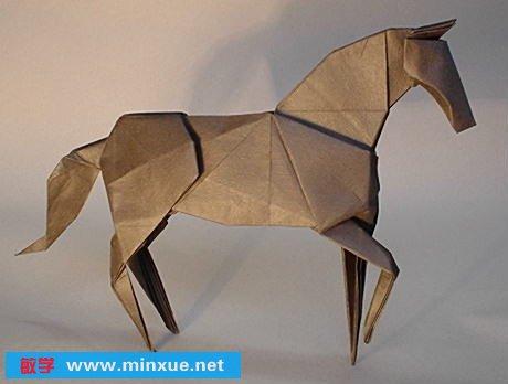 幼儿折纸动物马