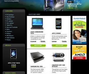 《硬件网站设计模版》(Hardware Online Store)HTML; .PSD;.FLA;.SWF[压缩包]