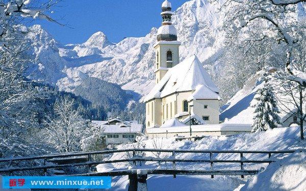 《高清冬季风景壁纸》(hd wallpaper winter landscape)主打雪景系列