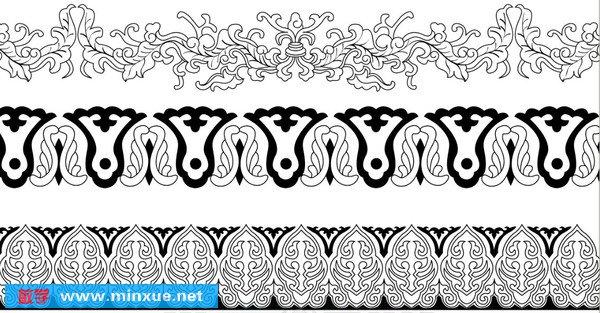 目录: 花卉  单独纹样  二方连续  四方连续 卷草  二方连续 几何
