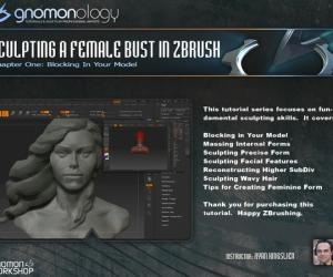《ZBrush女性雕塑教程》(Gnomonology-Sculpting A Female Bust In Zbrush)中文字幕[MP4]