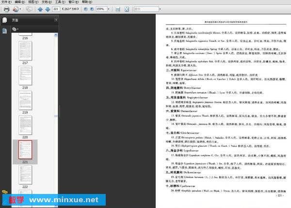 《贵州望谟苏铁自然保护区科学考察集》扫描版[PDF]