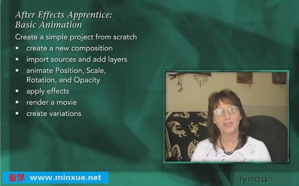 《Lynda.com出品After Effects学习: 基础动画后期制作》(Lynda.com After Effects Apprentice: 02 Basic Animation)[光盘镜像]
