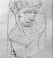 《初学者素描8 石膏写生几何体》