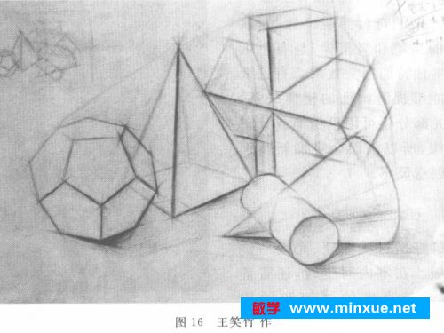 当由调子素描重回结构素描之后,绘画者对形体结构与空间关系的理解会