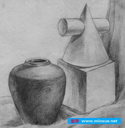 陶罐结构素描步骤