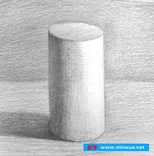 素描入门教系列程 素描几何体圆柱体的画法步骤