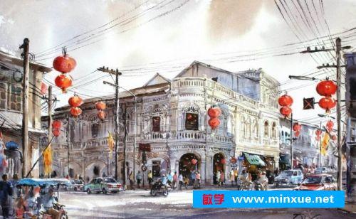 2018水彩画风景图片