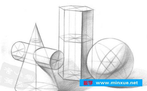 几何形体素描结构