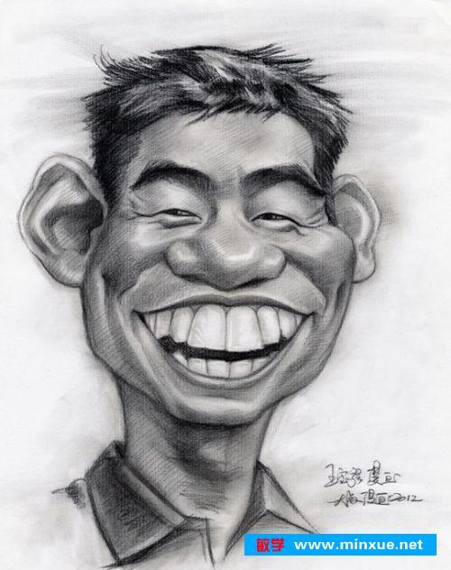 《开怀大笑:素描明星的女神漫画艺术平民!》漫画肖像高傲图片