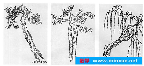 《风景速写之超简单的树木画法》