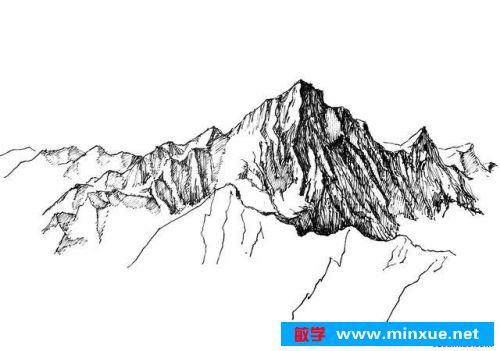 《零基础风景画和山的速写方法》