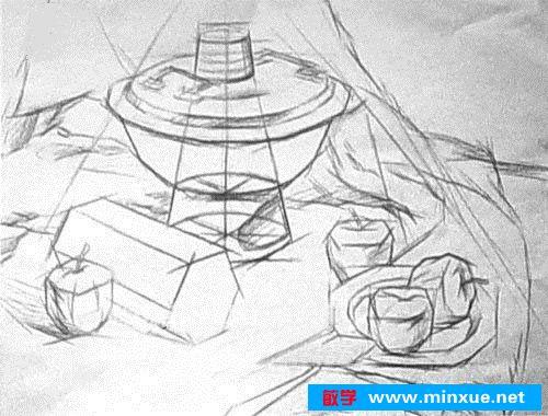《素描|怎样画静物结构,看这里!》
