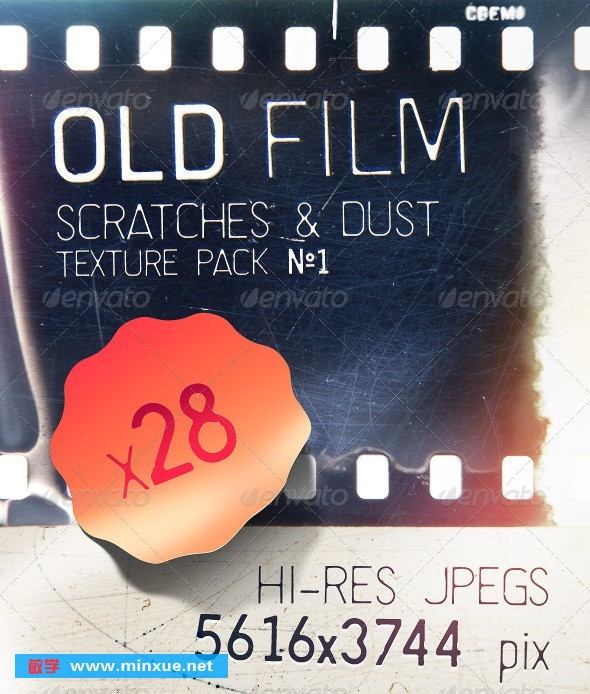 《Old Film Cuttings - Scratches & Dust Textures Vol》
